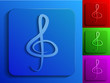 clef monochrome icons