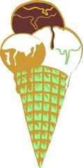 cone ice cream vector