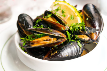 Mussel with white wine