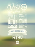 Fototapety Menu poster. Vector background.