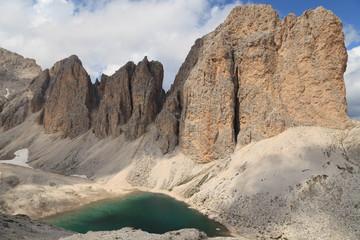 Antermoia Lake, Alps, Dolomites, Italy