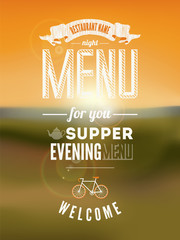 Menu Poster. Vector illustration.