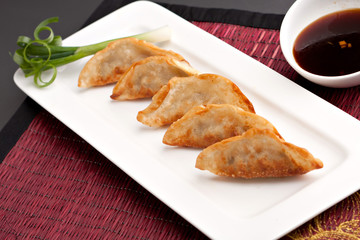 Thai Pan Fried Gyoza Dumplings