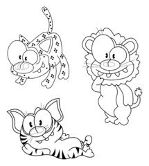 Cartoon big cats