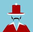 man wearing santa top hat