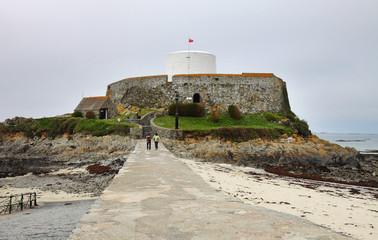 Ancient coastal defence Fort on the Channel Island of Guernsey