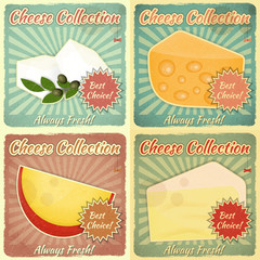 Vintage Set of Cheese Labels