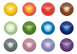 vector illustrations of glossy glass buttons for icons
