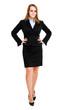 Full length smiling businesswoman