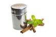 Cinnamon and fresh mint leaves