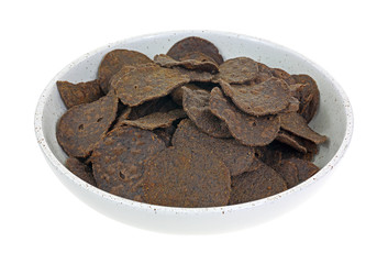 Black Bean Chips in Bowl