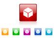 cube vector glossy web icon set