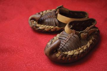 Traditional Serbian folk shoes