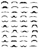 Set of mustache-vector