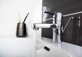 contemporary bathroom sink detail