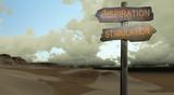 sign direction inspiration - stimulation poster