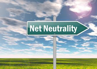 "Signpost ""Net Neutrality"""
