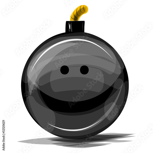 Bomb with smile vector illustration