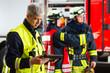 Feuerwehr - Einsatzplanung am Tablet-Computer