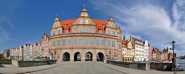 Green Gate in Gdańsk - panorama