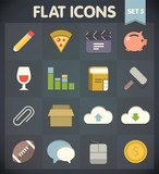Universal Flat Icons for Web and Mobile Applications Set 5