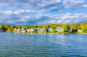A Small Village on the Coast of Maine