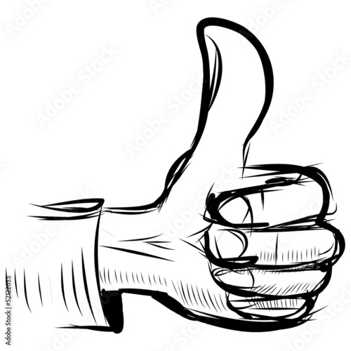 "Thumb up ""like"" hand symbol"