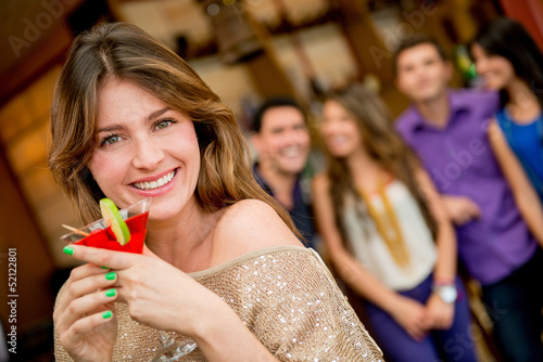 Woman having a cocktail