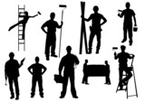 Fototapety Workers Silhouette