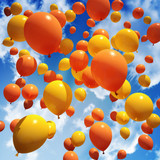 Fototapety Balloon's released into the sky