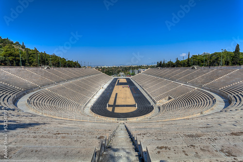 Panathenaic stadium or kallimarmaro in Athens ,Greece
