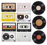 music audio tape vynil vinyl vintage