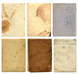 Grunge Paper Pieces. Comes With Clipping Path