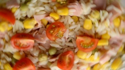 Ensalada de arroz  쌀 샐러드