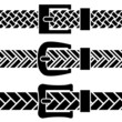 vector buckle braided belt black symbols