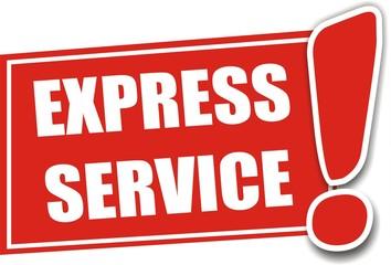 étiquette express service
