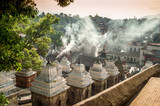 Smoke from The Funeral Gath in Pashupatinath poster
