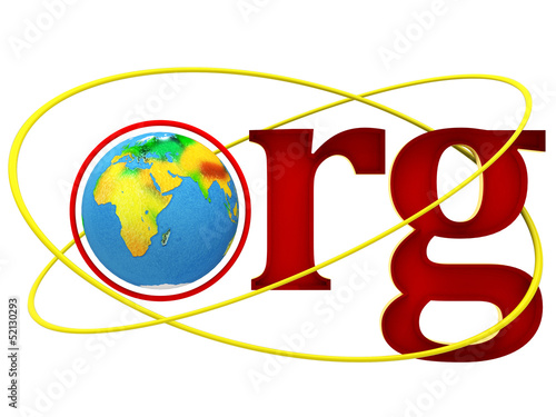ORG Domain Name Address illustration