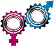 Male and Female Symbols - Metal Gears
