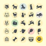 Fototapety Set of animal icons