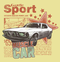 Muscle Car © Tshirt-Factory.com