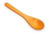 top view wooden spoon on white background