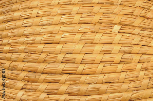 Surface of wicker ware or furniture made from straw