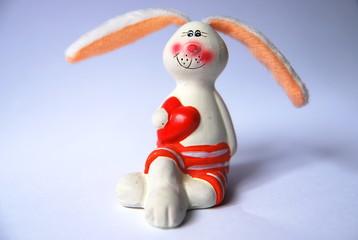 Porcelain figurine of a cute rabbit