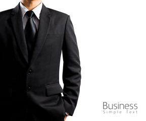 businessman in suit on white background