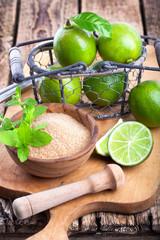 Zutaten für Caipirinha