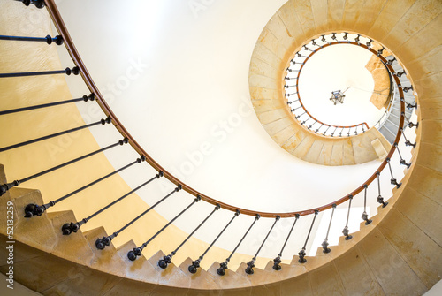 Fotobehang Trappen Spiral staircase