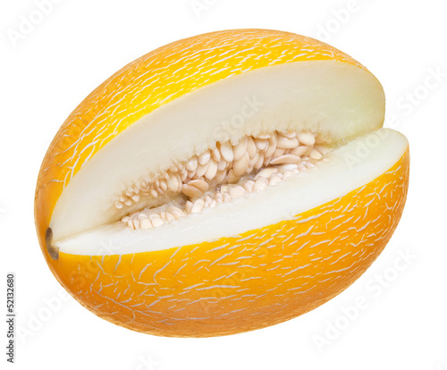 ripe melon on a white background