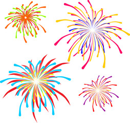 holiday fireworks, vector illustrations