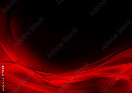 Aluminium Abstract wave Abstract luminous red and black background